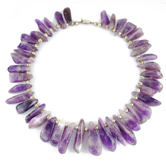 Monumental Los Castillo Amethyst Nuggets Necklace