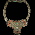 Early MATL Doves Mexican Silver Necklace
