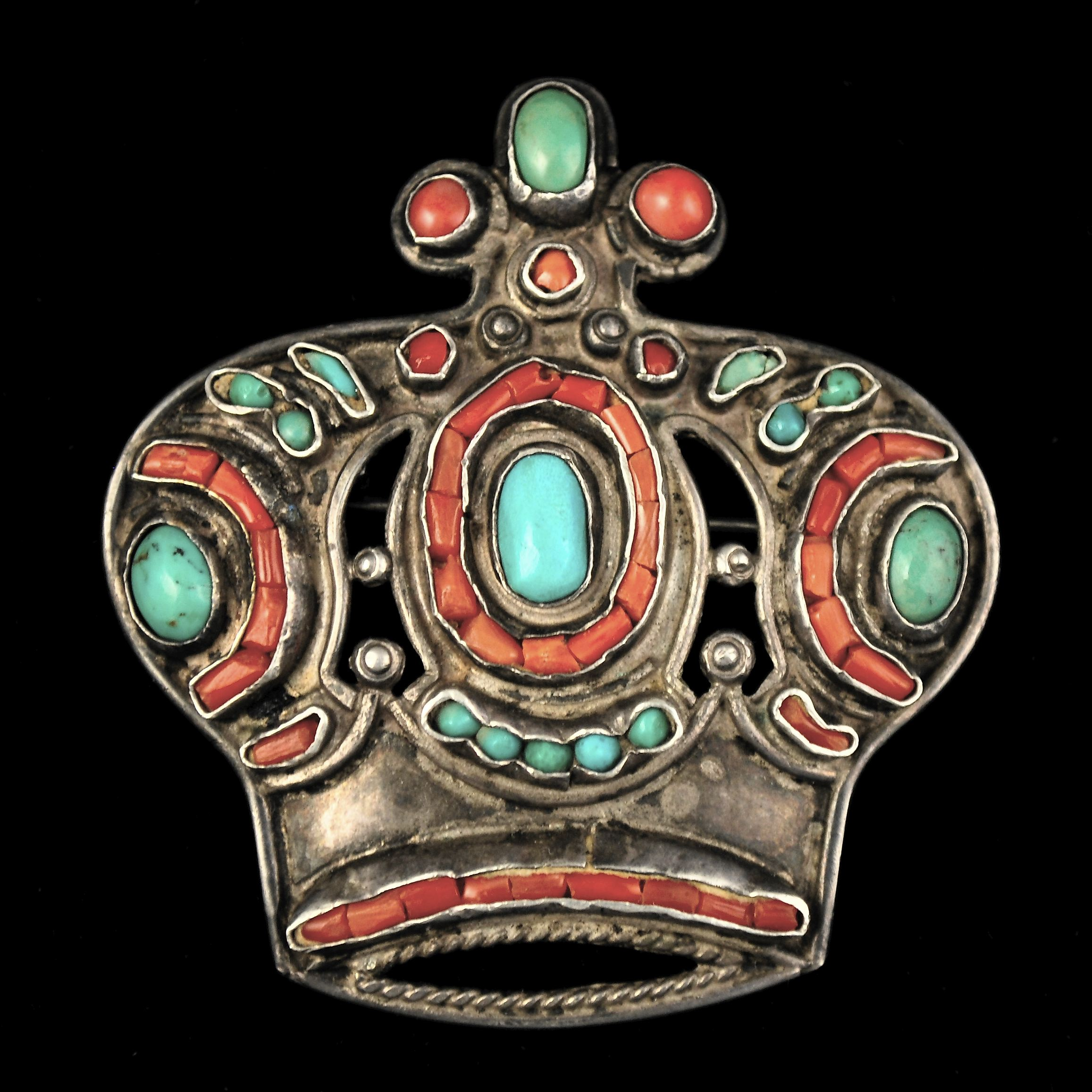 Matl Brooch Crown