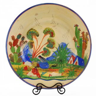 Vintage Mexican Pottery Tlaquepaque Charger 22″
