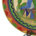 Vintage Mexican Pottery Tlaquepaque Charger Opaco 21″