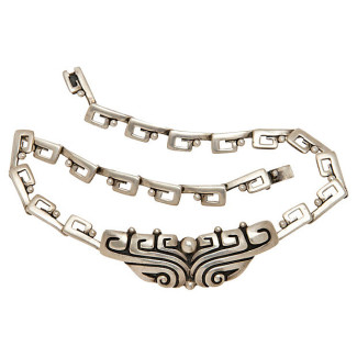 Margot de Taxco Necklace Vintage Mexican Silver