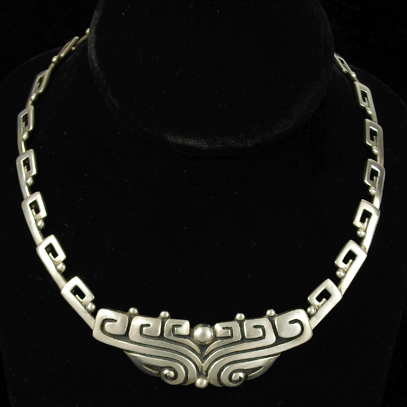 Margot De Taxco Necklace Vintage Mexican Silver Hacienda