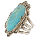 Navajo Sterling Silver Huge Turquoise Cuff Bracelet