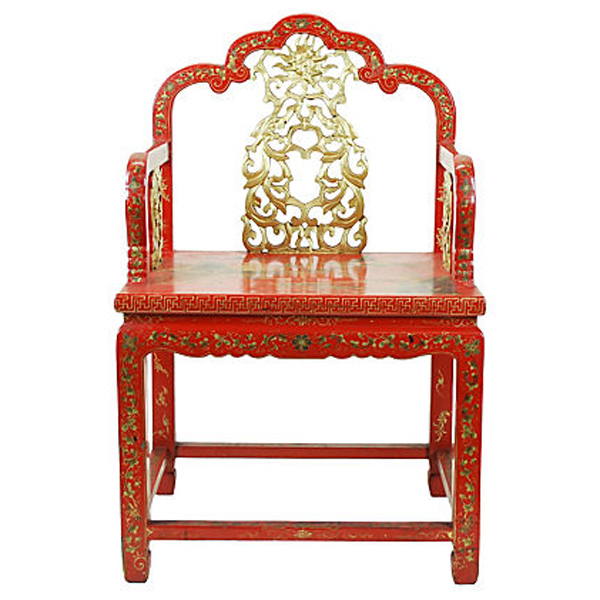 chinese red laquer chair1
