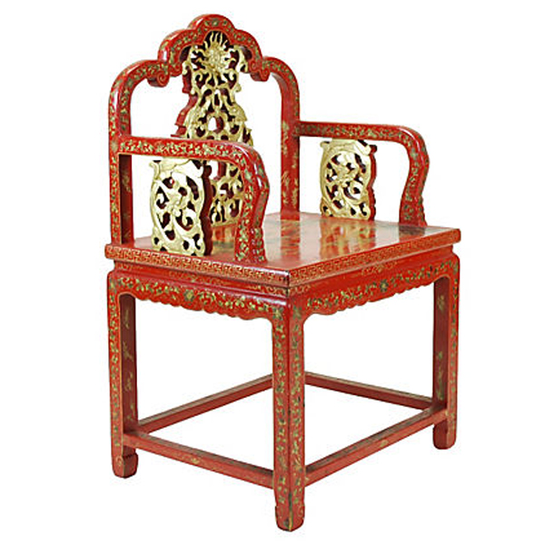 chinese red laquer chair2