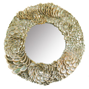 Baby Abalone Sea Shell Patterns of Light Mirror