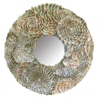 Silver Abalone Sea Shell Mirror