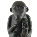 Vintage Mexican Ceramic Mezcal Monkey with Baby