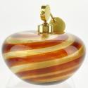 Vintage Murano Glass Striped Swirl Perfume Bottle