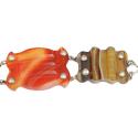 Antique Scottish Agate & Sterling Bracelet