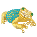 Vintage Cadoro Jeweled Frog Brooch