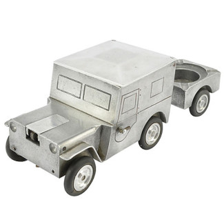German Aluminum Jeep Truck Lighter with Ashtray
