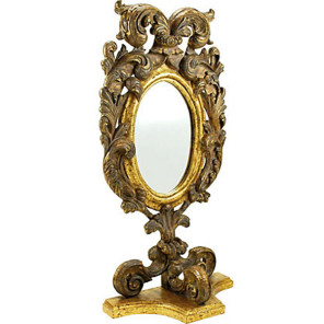 Antique Italian Giltwood Tabletop Mirror 20″