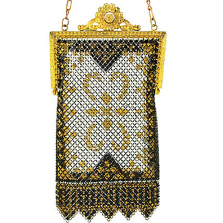 Art Deco Mandalian Mesh Flapper Purse