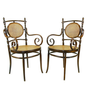Antique Italian Bentwood Chairs, Pair