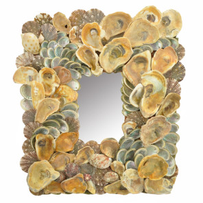 Baby Abalone And Red Oyster Sea Shell Mirror