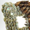 Abalone and Telescopium Sea Shell Mirror