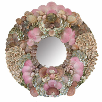 Princess Pink Sea Shell Mirror