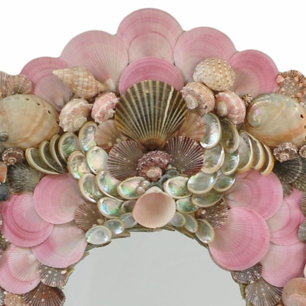 Pink Sea Shell Mirror Hacienda