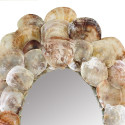 Massive Natural Placuna Seashell Mirror